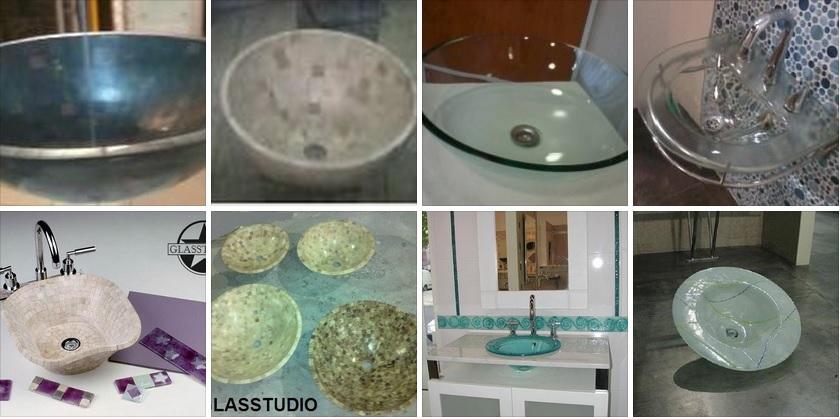 Bachas Para Baño A Medida:Bachas de Vidrio para baño, bachas de vidrio travertino